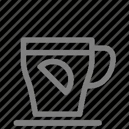 beverage, cold, cup, drink, hot, lemon, tea icon