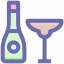 .svg, alcohol, alcoholic drink, beverage, bottle, drink, glass icon