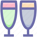 .svg, alcohol, champagne, champagne glass, drink, glass for champagne icon