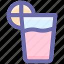 drink, glass, juice, lemon, lemon juice, shots icon