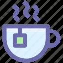cup and tea bag, hot drink, instant tea, tea, tea cup icon