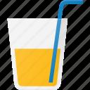 drink, drinks, glass, juce, orange, pipe, soda icon