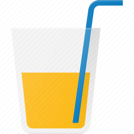 Drink, drinks, glass, juce, orange, pipe, soda icon - Download on Iconfinder