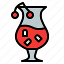 alcohol, blossom, cherry, cocktail, drink, glass