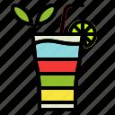 alcohol, cocktail, drink, glass, rainbow