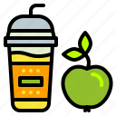 apple, cup, drink, smoothie, takeaway icon