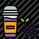 cup, drink, grape, smoothie, takeaway