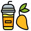 cup, drink, mango, smoothie, takeaway icon