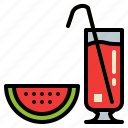 drink, glass, smoothie, watermelon icon