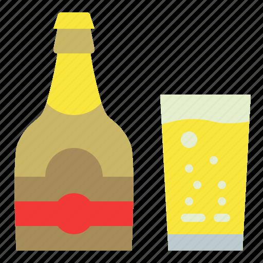 bottle, cyder, drink, glass icon