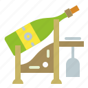bottle, drink, glass, wine icon