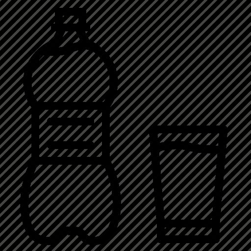 bottle, drink, glass, pet, water icon
