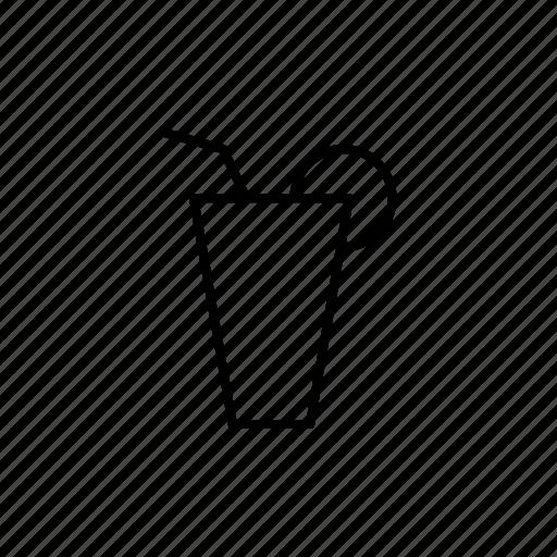 bar, drink, lemonade, line, menu, water icon