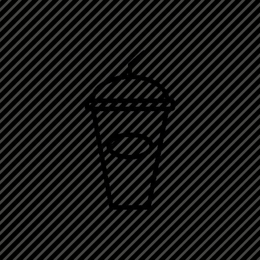 cup, drink, ice, juicy, line, menu icon
