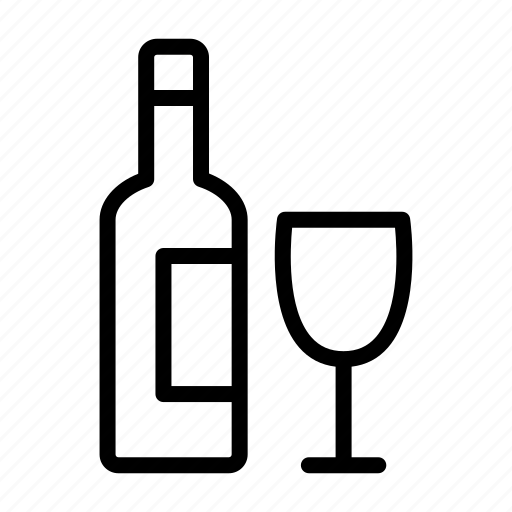 alcohol, beer, bottle, drink, glass, vodka, wine icon