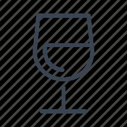 drink, glass, white, wine icon