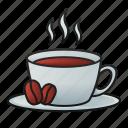 coffee, bean, cup, drink, beverage, hot