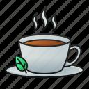 tea, leaves, cup, drink, beverage