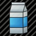 milk, cardboard, box, drink, beverage