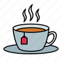 tea, bag, cup, drink, beverage, hot