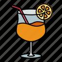 cocktail, glass, drink, beverage