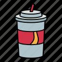 soda, cola, cup, drink, beverage