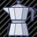coffee, moke, pot icon