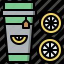 beverage, cold, drink, ice, lemon, refreshment, tea icon
