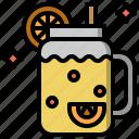 beverage, citrus, fresh, jar, lemonade, liquid icon