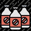 beverage, bottle, drink, glass, soda, sweet icon