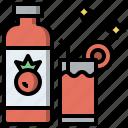 drink, healthy, juice, organic, tomato, vegan, vegetarian icon
