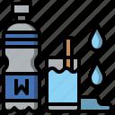 bottle, drink, healthy, hydratation, water icon