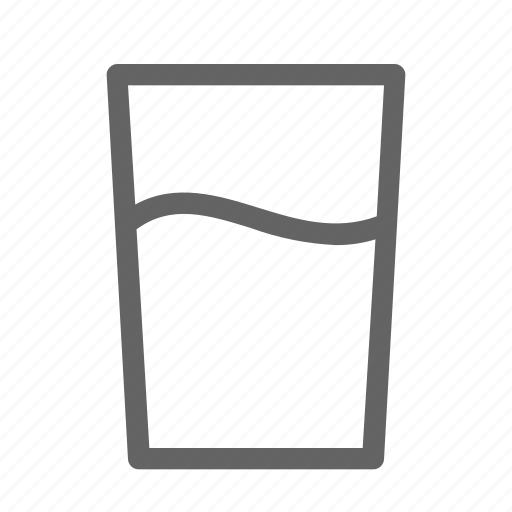 drink, glass, water icon