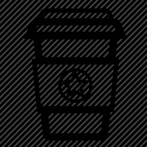 coffee, cup, drinks, milk, mug, star, tea icon