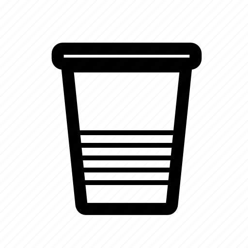 coffee, cup, drinks, plastic cup, tea, water icon