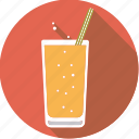 lemonade, straw, drink, sparkling, glass, beverage, soft