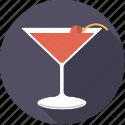 alcohol, beverage, cocktail, drink, glass, manhattan icon