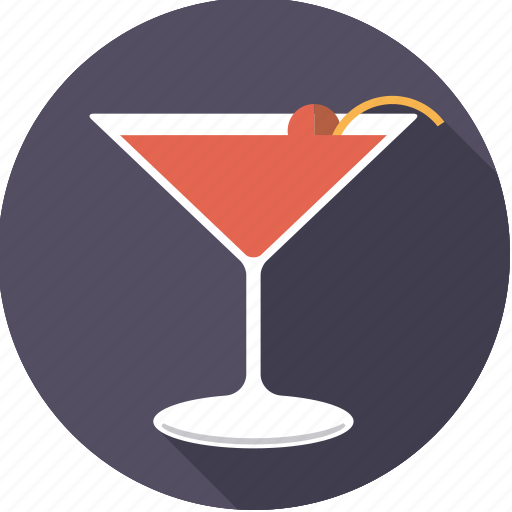 alcohol, beverage, cocktail, drink, glass, manhattan icon
