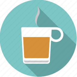 beverage, drink, glass, hot, steam, tea icon