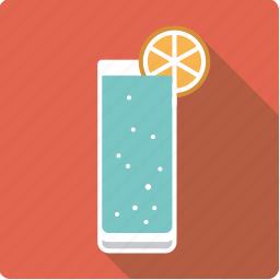 alcohol, beverage, cocktail, drink, gin tonic, lemon, soda icon