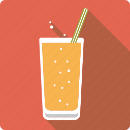 beverage, drink, glass, lemonade, soft, sparkling, straw icon
