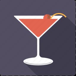 alcohol, beverage, cherry, cocktail, drink, glass, manhattan icon