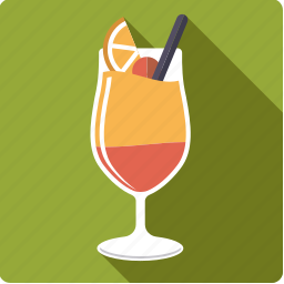 alcohol, beverage, cocktail, drink, glass, tequila sunrise icon