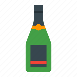 alcohol, bar, beverage, bottle, champagne, drink, wine icon