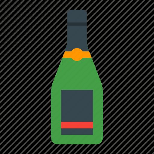 alcohol, bar, beverage, bottle, champagne, drink, wine icon