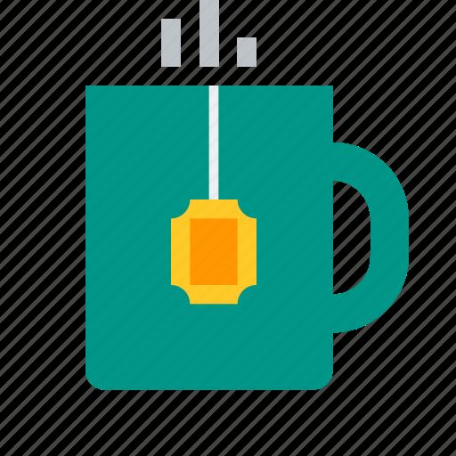 beverage, cup, drink, hot, mug, tea, teabag icon