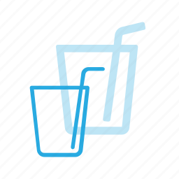 drink, drinks, glass, pipe, soda icon