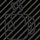 drinks, glass, hot, tea icon