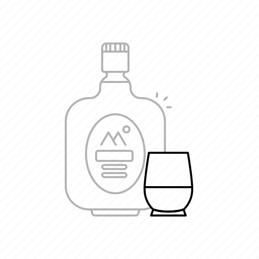 alcohol, beer, beverages, bottle, drink, old monk, red wine icon