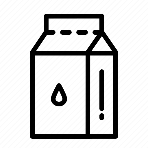 beverage, drink, milk, pack, packaged, tetrapack icon